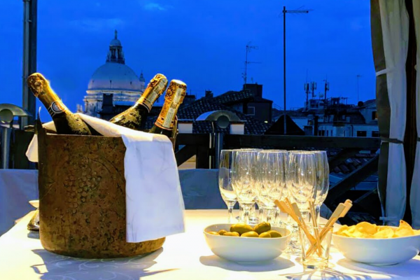 Aperitif on our panoramic terrace
