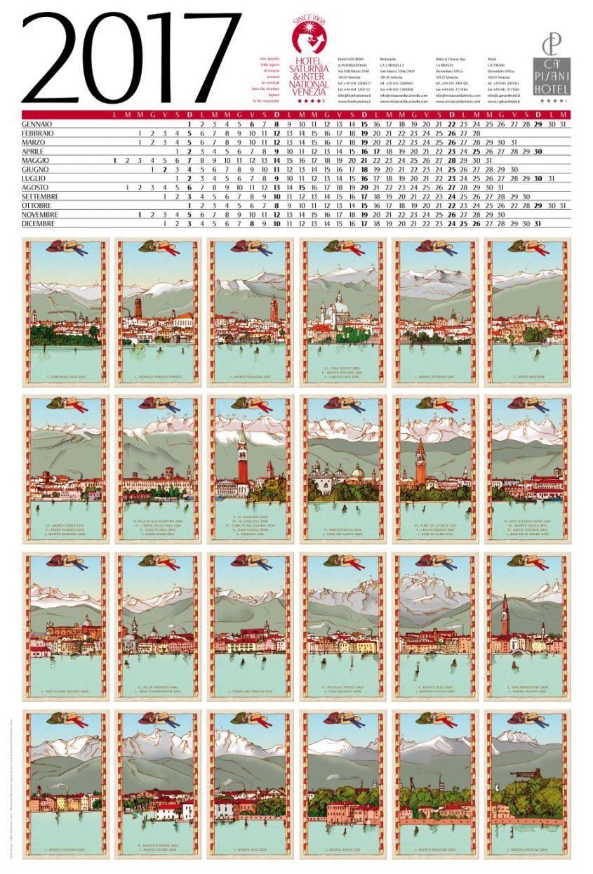 Calendario Anno 1980.Il Calendario 2017 Dell Hotel Saturnia International